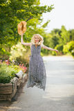 Lovely blonde woman playful Royalty Free Stock Image