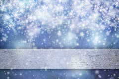 Lovely blue colored abstract snowy xmas background Royalty Free Stock Photos