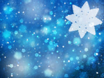 Lovely blue colored snowflake Christmas illustration background Stock Images