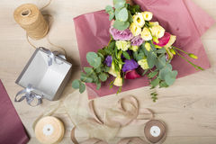 Lovely bouquet in a flower shop Royalty Free Stock Image