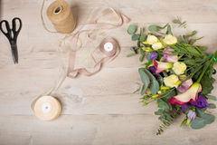 Lovely bouquet in a flower shop Stock Photography