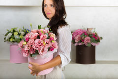 Lovely bouquet in a flower shop Royalty Free Stock Photos