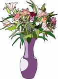Lovely bouquet. Vector illustration of a bouquet of flowers, EPS 8 file Royalty Free Illustration