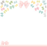 Lovely Bow Frame Royalty Free Stock Photo