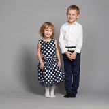 Lovely boy and girl hugging Royalty Free Stock Photo