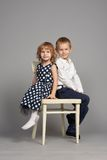 Lovely boy and girl hugging Royalty Free Stock Photography