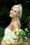 Lovely Bride at the Beach Royalty Free Stock Image