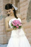 Lovely bride with bouquet Stock Photo