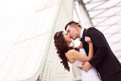 Lovely bride and groom Royalty Free Stock Photo
