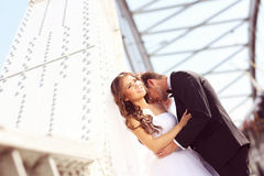 Lovely bride and groom Royalty Free Stock Photos