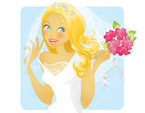 Lovely bride Stock Image