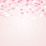 Lovely bright pink color hearts Stock Image