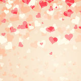 Lovely bright red color hearts Royalty Free Stock Photography