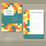 Lovely brochure design with geometric background Royalty Free Stock Photo