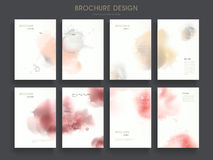 Lovely brochure template Royalty Free Stock Photos