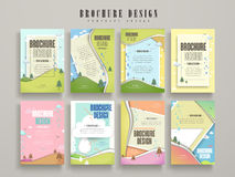 Lovely brochure template. Design set with nature scenery Royalty Free Stock Images