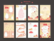 Lovely brochure template. Design set with umbrella elements Stock Image