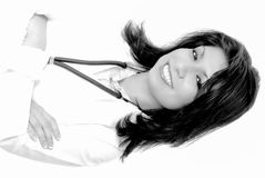 Lovely Brunette Latina Doctor or Nurse Royalty Free Stock Photo