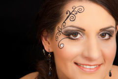 Lovely brunette woman portrait with make-up Royalty Free Stock Images