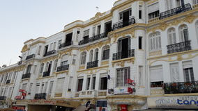 Lovely Building. Tangier city beach lovely old Building Stock Photo