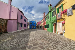 Lovely buildings in Burano Island, Italy. Lovely buildings in Burano Island, Venice Italy Royalty Free Stock Photo
