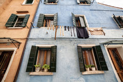 Lovely buildings in Burano Island, Italy. Lovely buildings in Burano Island, Venice Italy Royalty Free Stock Photos