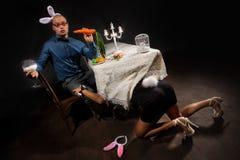 Lovely bunny couple Stock Photography