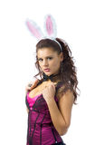 Lovely bunny girl Royalty Free Stock Photo