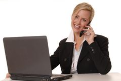 Lovely Business Lady 10. Beautiful and sexy blond business woman with laptop Stock Images