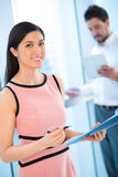 Lovely business lady Stock Image