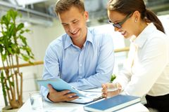 Lovely business team Royalty Free Stock Photos