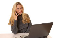 Lovely Business Woman Royalty Free Stock Photos