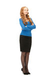 Lovely business woman Stock Images
