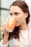 Lovely businesswoman with mug Royalty Free Stock Photos