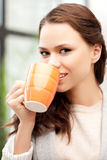 Lovely businesswoman with mug Royalty Free Stock Photo