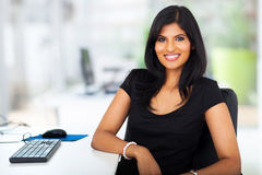 Lovely businesswoman office Stock Images