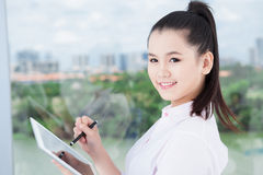 Lovely businesswoman Stock Photo