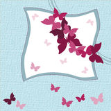 Lovely Butterflies invitation card Royalty Free Stock Image