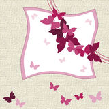 Lovely Butterflies invitation card Stock Photo