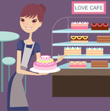 Lovely cake house. Welcome to the lovely cake house Stock Illustration