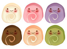 Lovely Cake Roll Collection. Vector FIle EPS10 Royalty Free Stock Photo