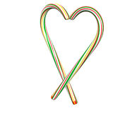 Lovely candy cane Stock Image