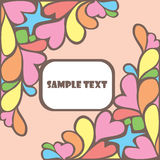 Lovely  card Royalty Free Stock Images