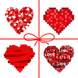 Lovely Card Background With Hearts Red Royalty Free Stock Photography