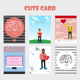 Lovely card for Valentine's Day. Stock Images