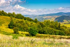 Lovely Carpathian countryside in autumn. Beautiful scenery of mountainous Volovets district, Ukraine Royalty Free Stock Images