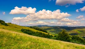 Lovely Carpathian countryside in autumn. Beautiful scenery of mountainous Volovets district, Ukraine Stock Photos
