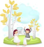 Lovely Cartoon Charactors for Christmas and Valentine`s Day vector illustration