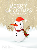 Lovely cartoon Christmas snowman Stock Photo