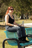 Lovely Casual Redhead Outdoors (3) Stock Photography